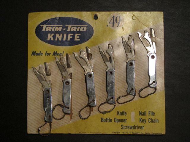 画像1: VINTAGE TRIM-TRIO KNIFE DISPLAY