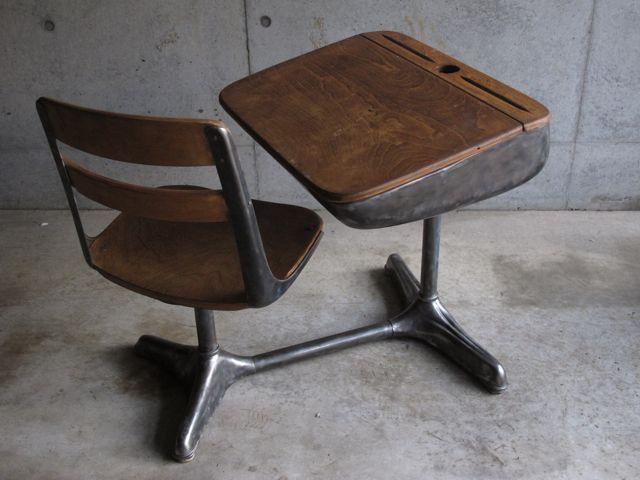 画像1: Solid Metal Desk&chair
