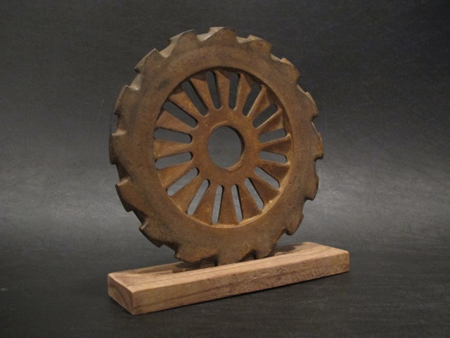 画像1: Cast iron Seed Plate Gear  Decor