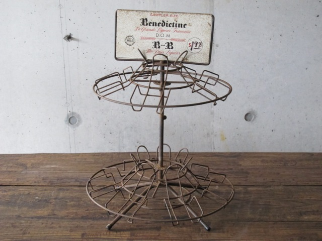 画像1: B&B Benedictine Brandy Liqueur Vintage Liquor Store Metal Display Rack