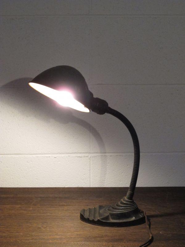 画像1: Vintage Gooseneck  Desk Lamp
