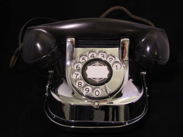 画像1: ★THE VINTAGE LIKE NEW★ ART DECO CHROME  PHONE